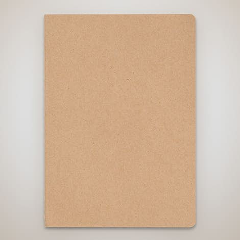 Recycled Soft Cover Medium Notebook - Natural