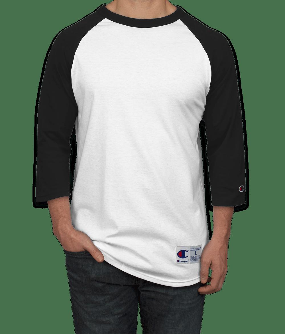 Design Custom Printed Champion Baseball Raglan Shirts Online at ...