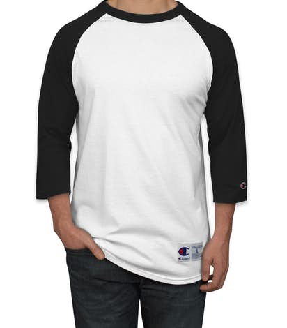 Design custom printed champion baseball raglan shirts for Custom raglan baseball shirt