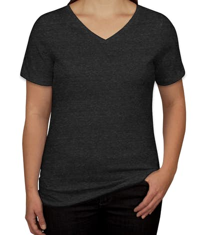 Custom Bella Ladies Tri-Blend V-Neck T-shirt - Design Ladies Short ...