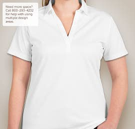 Port Authority Ladies Silk Touch Performance Polo - Embroidered - Color: White
