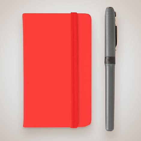Hard Cover Mini Pocket Notebook - Red
