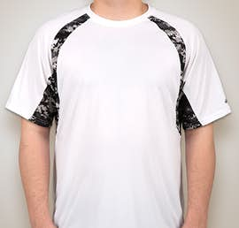 Badger Digital Camo Contrast Performance Shirt - Color: White