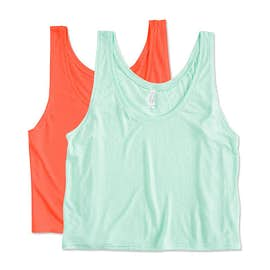 Bella Ladies Flowy Crop Tank