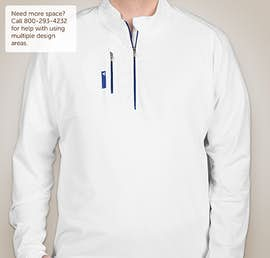 Adidas Golf Contrast Quarter Zip Pullover - Color: White / Bright Royal