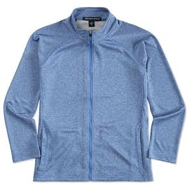 Devon & Jones Ladies Heather Performance Full Zip