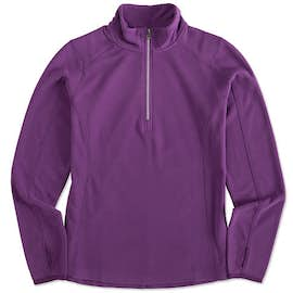 Port Authority Ladies Quarter Zip Microfleece Pullover