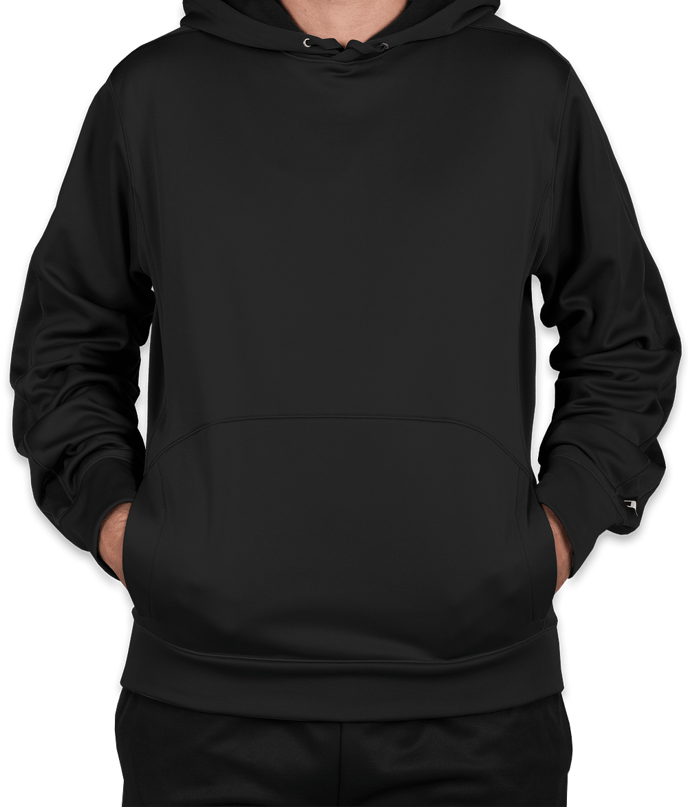 Custom Champion Colorblock Performance Pullover Hoodie - Design