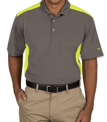 Design custom embroidered nike golf dri fit mesh for Embroidered nike golf shirts