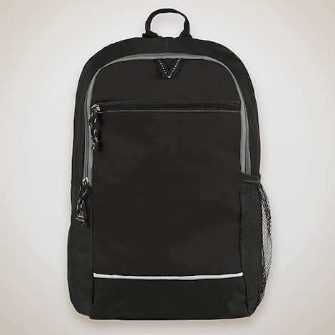 Promotional Side Pocket Backpack - Black
