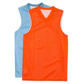 Teamwork Youth Fadeaway Reversible Mesh Basketball Jersey