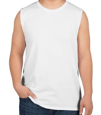 Jerzees 50/50 Muscle Tank - White