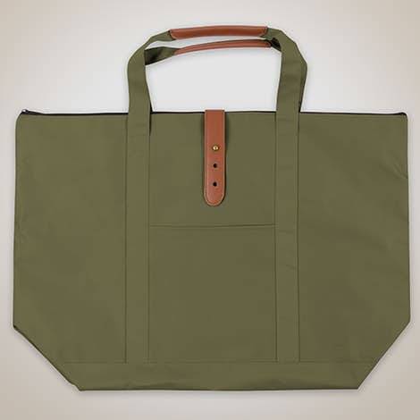 Large Mallard Zippered Tote - Olive Green
