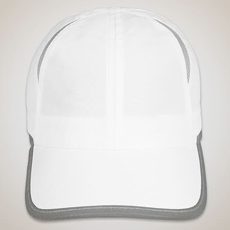 Big Accessories Colorblock Performance Running Hat - White