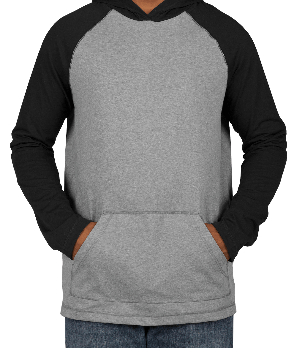 Custom District Raglan Hooded Long Sleeve T-shirt - Design Long ...