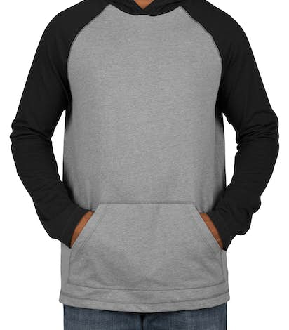 Custom District Raglan Hooded Long Sleeve T-shirt - Design Long ...