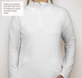 Sport-Tek Ladies Performance Half Zip Pullover - Color: White