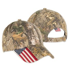 Outdoor Cap Realtree Xtra® Camo American Flag Hat