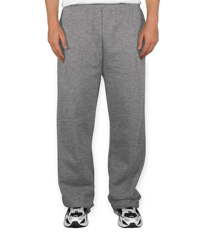 Jerzees Open Bottom Sweatpants - Oxford