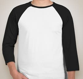 Canvas Lightweight Baseball Raglan - Color: White / Black