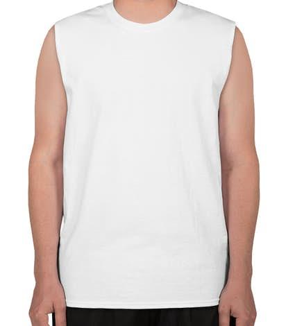 Gildan Ultra Cotton Muscle Tank - White