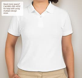 Gildan Ladies Dryblend Double Pique Polo - Color: White