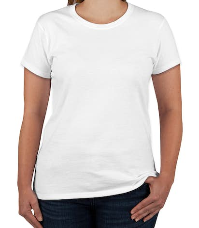 Gildan Ladies 100% Cotton T-shirt - White