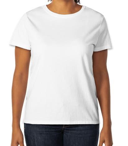Hanes Ladies 100% Cotton T-shirt - White
