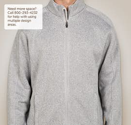 Devon & Jones Full Zip Sweater Fleece Jacket - Color: Grey Heather