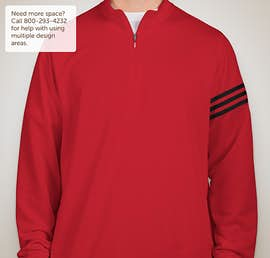 Adidas ClimaLite Quarter Zip Performance Pullover - Color: Power Red / Black