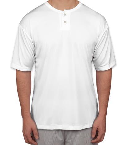 Badger B-Dry Performance Baseball Henley - White