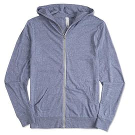 Threadfast Tri-Blend Full Zip T-shirt Hoodie