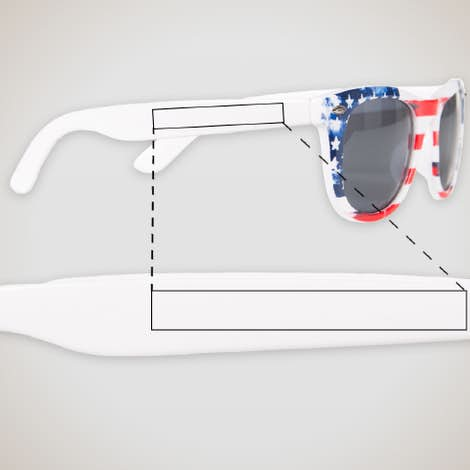Patriotic Sunglasses - USA Flag