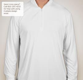 Sport-Tek Posicharge Competitor Quarter Zip Performance Shirt - Color: White