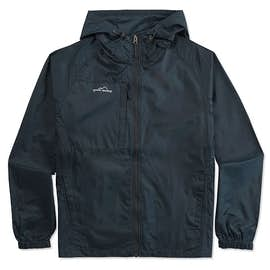 Eddie Bauer Full Zip Hooded Packable Jacket