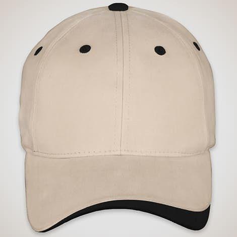 Sportsman Two-Tone Hat - Khaki / Black