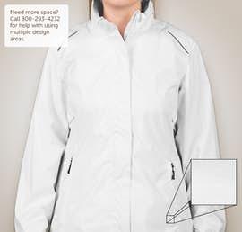 Core 365 Ladies Waterproof Ripstop Jacket - Color: White