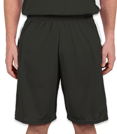 Augusta Colorblock Basketball Shorts - Slate / White