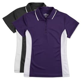 Charles River Ladies Tipped Pique Performance Polo