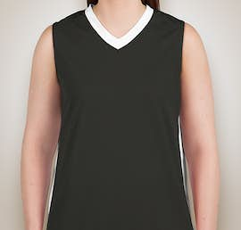 Augusta Ladies Colorblock Basketball Jersey - Color: Slate / White