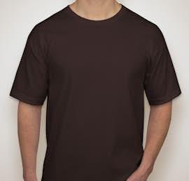 Bayside 100% Cotton USA T-shirt - Color: Chocolate