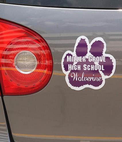 Design Custom Printed  In X  In Paw Print Car Magnets - Custom car magnets paw print
