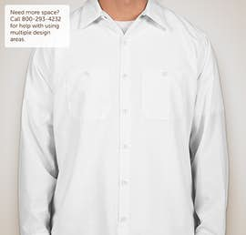 Red Kap® Long Sleeve Industrial Work Shirt - Color: White