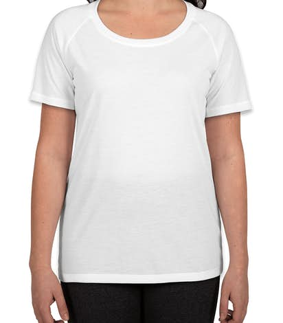 Custom sport tek ladies tri blend performance raglan t Custom performance t shirts