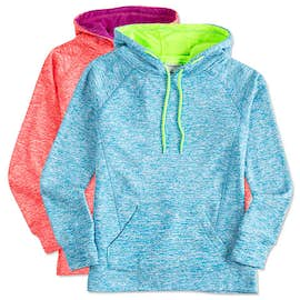 J. America Ladies Cosmic Performance Pullover Hoodie