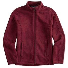 Devon & Jones Ladies Full Zip Sweater Fleece Jacket
