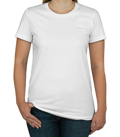 American Apparel Juniors Jersey T-shirt - White