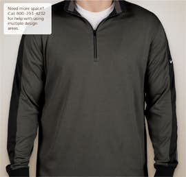 Nike Golf Dri-FIT Half Zip Performance Pullover - Color: Anthracite Heather/ Black