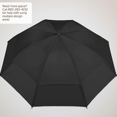 "Vitronic Wind Tamer Vented Golf 62"" Umbrella - Black"