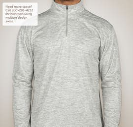 Badger Heather Quarter Zip Performance Shirt - Color: Silver